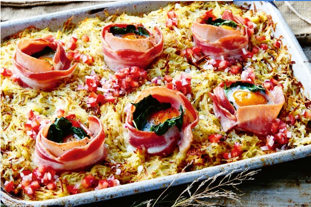 Egg and Bacon Tray Bake